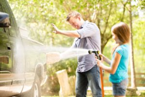 Family washing truck - Plumbing, sewer, & drain services in Peoria IL